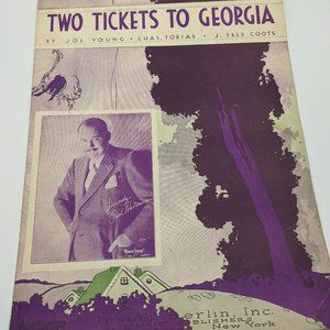 Two Tickets to Georgia sheet music - 1933